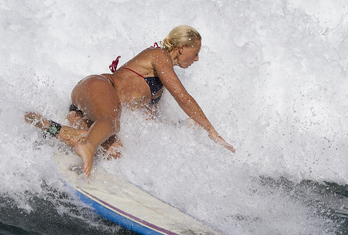 surfer girl wipeout
