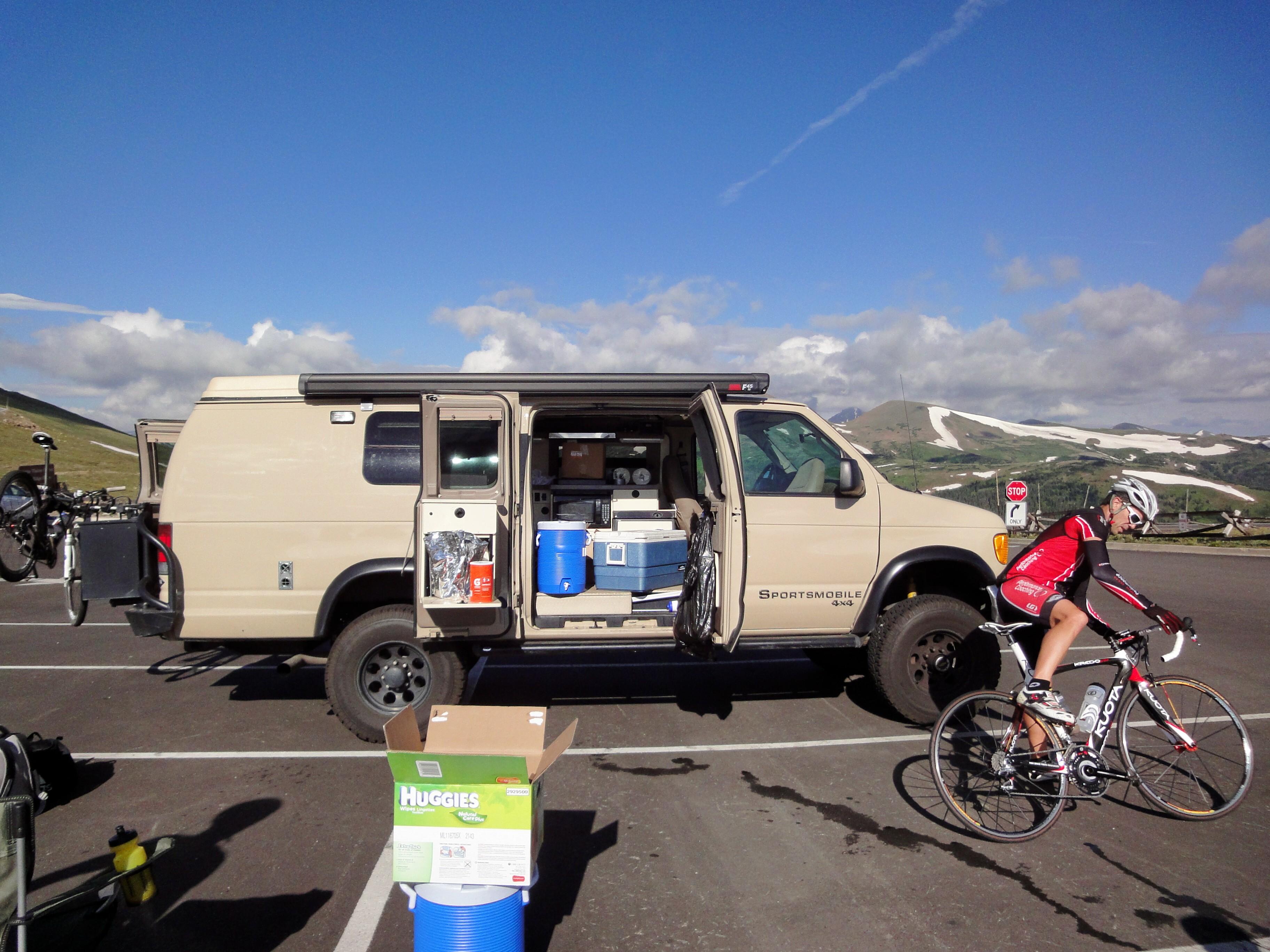 Sportsmobile Atop A Colorado Mountain Pass Summer 2011
