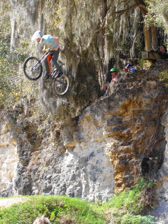 Cliff jumping at Santos.